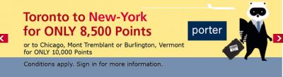 Visa Aventura Redeem Points