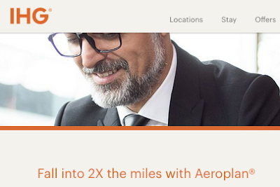 Earn Double Aeroplan Miles for IHG Hotel stays until the end of the year