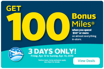 April 11 Update: 100 bonus AIR MILES at Rexall this weekend, Amex Platinum Card access to Lufthansa lounges extended & a great KLM seat sale!