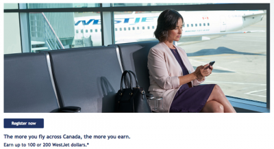 Earn up to 200 bonus WestJet dollars when flying on select WestJet flights across Canada + MORE Feb 27th