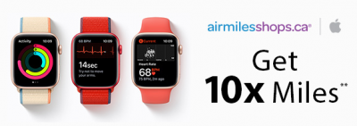 Three days only - Earn 10x AIR MILES Reward Miles for online purchases with Apple