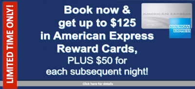 Book hotel stays in Vancouver, Calgary & Edmonton and receive American Express or Amazon gift cards