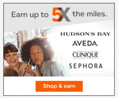 Aeroplan eStore up to 5x Miles Beauty Event