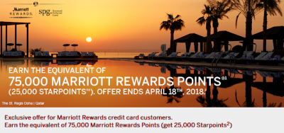 One Week Left for the Exclusive offer for the Starwood Preferred Guest Credit Card from American Express for Chase Marriott Premier Cardholders