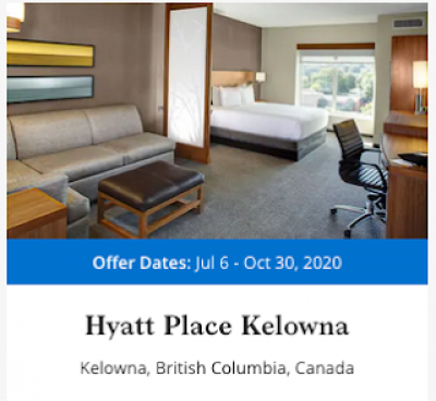 July 9 Update: 500 bonus points for stays at the Hyatt Place Kelowna, Last day for the BMO Rewards Mastercard 20,000 point bonus & Wyndham Rewards lowers elite qualification requirements + MORE Jul 10th