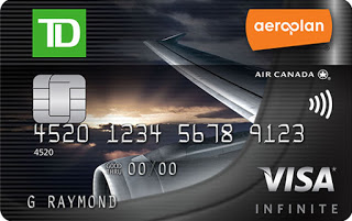 New TD Aeroplan Visa Infinite Card offer of up to 25,000 bonus miles and first year free