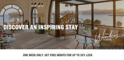Marriott Bonvoy Week of Wonders - Hotels pricing at off-peak award night rates when you book by October 15