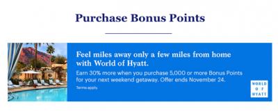 30% bonus when you buy World of Hyatt points until November 24 + MORE Oct 20th