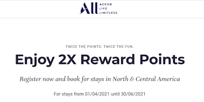 Earn double ALL Accor Live Limitless Rewards Points for stays at Fairmont and Accor Hotels in Canada Apr 4th