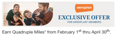 Earn 4x Aeroplan Miles for Choice Hotels stays until April 30