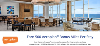 Earn 500 bonus Aeroplan Miles for stays this summer at Best Western Hotels in Canada, the U.S. and Caribbean + MORE May 21st