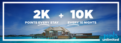 Hilton further extends Points Unlimited Promotion – earn 2,000 bonus Honors points per stay until September 7