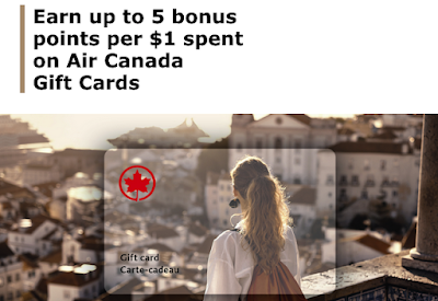 September 10 Update: Bonus points for Air Canada Gift Cards count towards Everyday Status Qualification & earn 250 bonus miles when booking travel via AIR MILES Shops Sep 10th