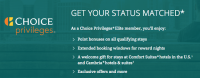 Choice Privileges Elite Status Match now available to Canadians