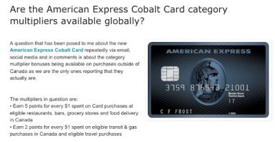 May 9 Update: Reminder that American Express Cobalt Card multipliers are global, new Marriott bonuses for Montreal & London, 3x Aeroplan Miles for Coast Hotel stays