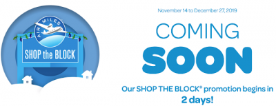 November 12 Update: AIR MILES Shop the Block returns in 2 days with up to 1,200 bonus miles and the last Air Transat A310 flights to be YQB-CDG