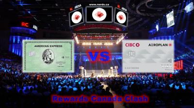 Clash of the Credit Cards! American Express Green Card vs. CIBC Aeroplan Visa Card
