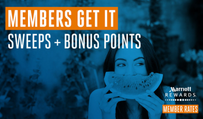 Marriott Rewards 2016 Global Promotion – Earn up to 12,000 Bonus Points for stays this summer May 24th