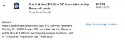 Amex Shop Small promotion returns for the holiday shopping season - earn $5 credits or 300 bonus Membership Rewards points