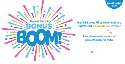 AIR MILES Bonus Boom is now live - earn bonus miles with participating partners until July 1