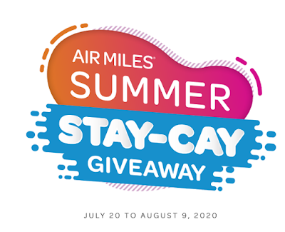 AIR MILES Summer Stay-Cay Giveaway - Chance to win 100,000 miles or other prizes when you shop at participating partners