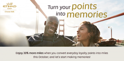 October 8 Update: 20% Bonus for converting hotel points to Etihad Guest, Double Avios on all Accor Hotel stays Worldwide including Fairmont & more bonus offers Oct 8th