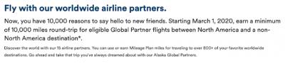 Alaska Airlines new partner airline flight bonus is one Canadians should really consider - earn 10,000 miles on round trip flights