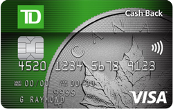 TD Cash Back Visa Card review Oct 28th