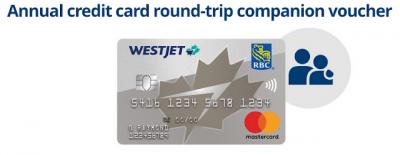 Domestic companion voucher added to base level WestJet RBC Mastercard