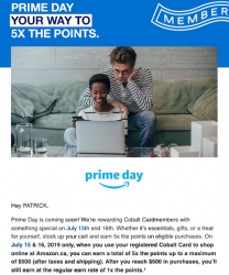 American Express bonus points offers for Amazon Prime Day