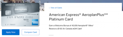 Grab the American Express AeroplanPlus Platinum or Reserve Cards and receive an Air Canada eGfit Card with minimum spend