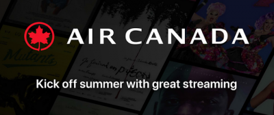 Air Canada Aeroplan members receive free access to streaming video content