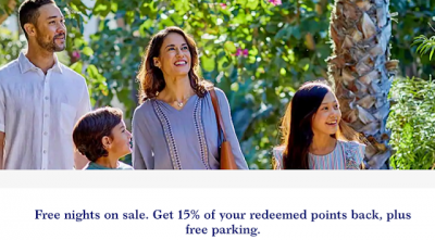 World of Hyatt offering 15% back in points for award stays + free parking + bonus points on dining