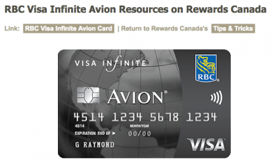 March 8 Update: RBC Visa Infinite Visa Avion Resource Page, April 30 is the end date for the Avion offer & more!