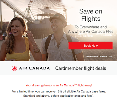 September 13 Update: American Express discount for Air Canada flights, WestJet Flash Sale,  up to 100 Bonus AIR MILES for Budget rentals