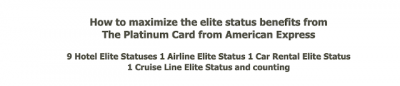 October 7 Update: Maximizing the elite status benefits from The Platinum Card from American Express and YYC's Chinook Lounge will close down when WestJet's lounge opens