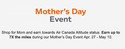 5 Bonus Aeroplan Miles per dollar via the Aeroplan eStore when paying with a CIBC or American Express Aeroplan co-branded card