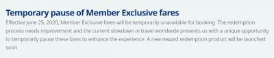 WestJet Rewards Member Exclusive Fares being paused as of June 25