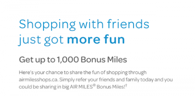 February 25 Update: AIR MILES Shops refer a friend bonus offer, Alaska Airlines status match offer & 50,000 PC Optimum points for online shopping + MORE Feb 25th
