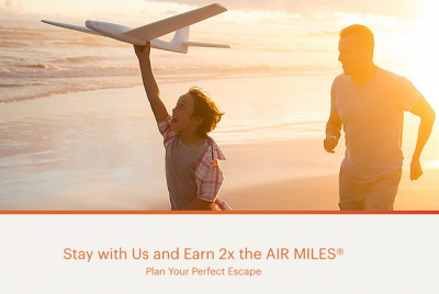 Earn Double AIR MILES Reward Miles for stays at IHG hotels this summer!
