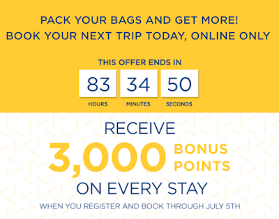 Earn 3,000 Bonus Rewards Points on all Best Western stays until the end of August (Targeted offer – book by July 5)