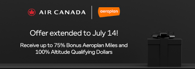 July 10 Update: Aeroplan extends buy miles bonus to July 14, an update to our Top 5 cards for July, 20x PC Optimum points this weekend