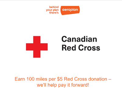 September 3 Update: Earn Aeroplan Miles for donating to the Canadian Red Cross, 50% bonus points for discount store & stationary purchases on Collabria credit cards, Choice Privileges buy points flash sale