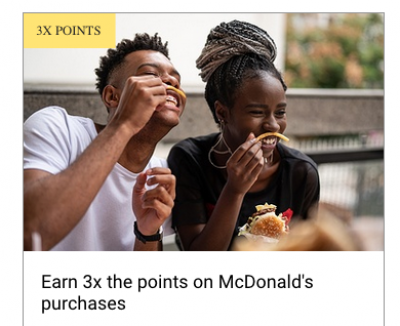 Earn 3x RBC Rewards Points at McDonald's with eligible RBC Visa credit cards