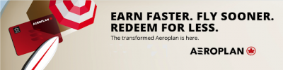 The new Air Canada Aeroplan reward flight pricing compared: no status no credit card pricing versus elite status + credit card Preferred pricing