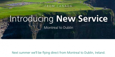 September 12 Update: Aer Lingus to start Montreal-Dublin service (a great Avios redemption possibilty), 5,000 Bonus Marriott Points in Victoria and more