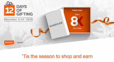 December 3 Update: Earn bonus miles with Aeroplan eStore's 12 Days of Gifting, WestJet moves St. John's-Dublin service to Halifax & more! + MORE Dec 3rd