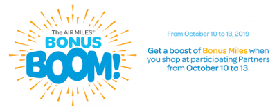 October 10 Update: AIR MILES Bonus Boom offers tons of bonus miles until Oct 13, new Vancity cards added to our comparison charts, 14 new miles & points bonuses