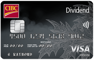 New Welcome Offer for the CIBC Dividend® Visa Infinite* Card - 10% cash back on all purchases up to $2,000 and a first year annual fee rebate