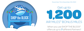 AIR MILES Shop the Block is here - Earn up to 1,200 bonus miles for using multiple partners